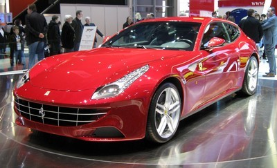 2011 Ferrari FF with License plate D9FSVP1