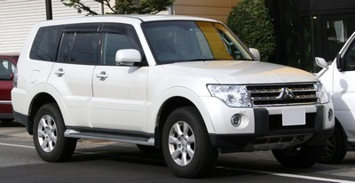 2007 Mitsubishi Pajero with License plate ABRNRWQ