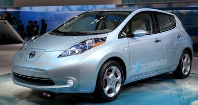 2012 Nissan Leaf with License plate B48OCC1